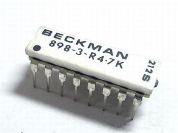 Weerstand array 8 x 4K7 DIP16