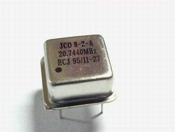 Quartz crystal oscillator 20,744 mhz