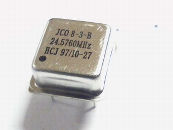 Quartz crystal oscillator 24,5760 mhz