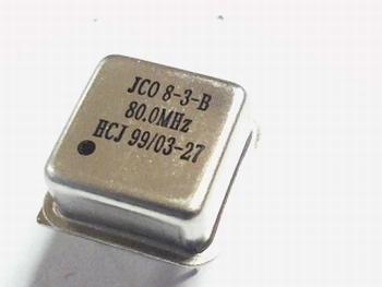 Quartz crystal oscillator 80 mhz square