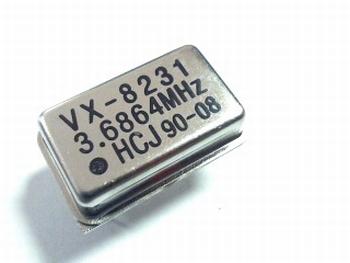 Quartz crystal oscillator 3,6864 mhz