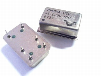 Quartz crystal oscillator 36 mhz 154GXA Vectron