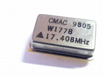 Quartz crystal oscillator 17,408 mhz