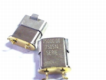 Quartz crystal SMD 75 mhz