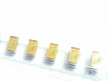 SMD Tantaal condensator 10uf 16V TAJC10M16RBJ