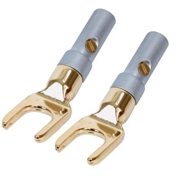Spade plugs (2x) high end