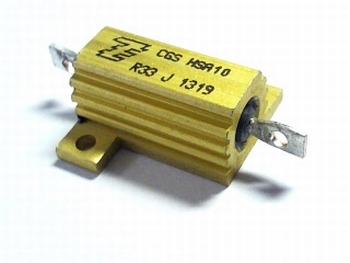 Weerstand 0,68 Ohm 16 Watt 5% met koellichaam