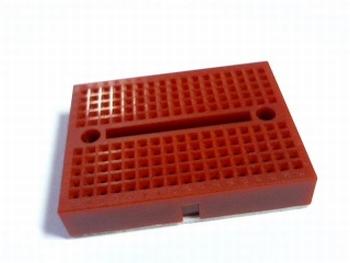 Solderless red breadboard mini