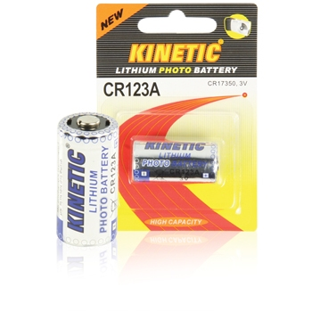 CR123 lithium battery 3 V 1200 mAh