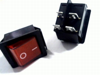 Universele 2-polige wipschakelaar rood DPDT