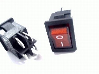 Universal 2-pole switch red 3A