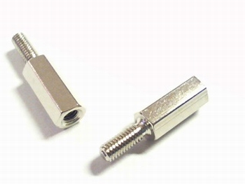 Metal distance holder 12mm with screw-end