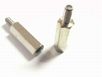 Metal distance holder 18mm with screw-end