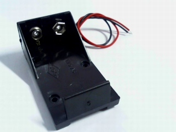 Batteryholder for 9 volt battery with wire connections