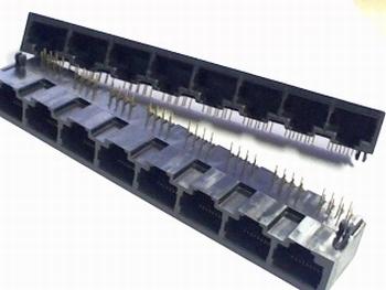 RJ45 8 voudige bus 8 polig voor netwerk kabels