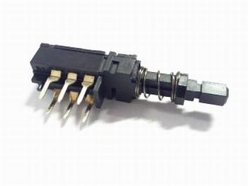 Drukschakelaar wissel  met momentcontact RM 4mm DPDT
