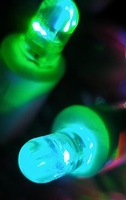 Bright blueish green 10mm leds