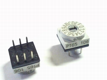 Rotary switch Binary coded HEX - PT65-106 - APEM