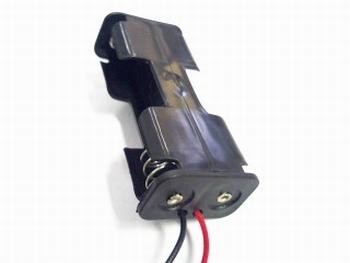 Batterijhouder 2 x AA zijlader draadaansluiting