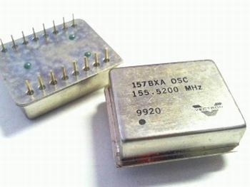 Quartz crystal oscillator 155,52 mhz 16 pins