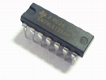 74LS125 Quad Bus Buffer Negative Enable with 3 State