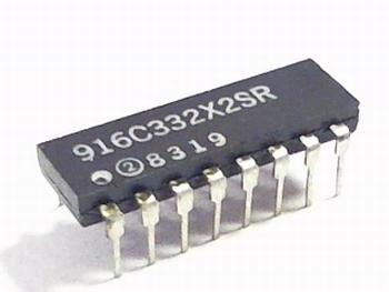 Weerstand array 8 x 3K3 ohm DIP16