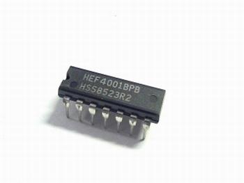 HEF4001 2 input NOR gate DIP14
