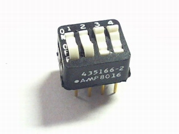 Dip switch 4 in 1 type 435166-2