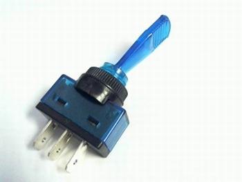 Schakelaar 3 polig on/off 12V 20A met blauwe hefboom