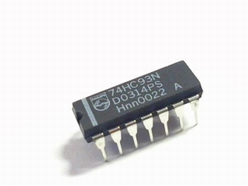 74HC93 4 Bit binary counter