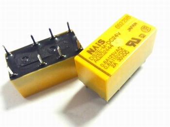Relais DS2E-M-DC24V DPDT 24 volt DC