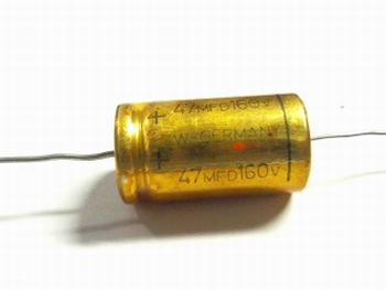Electrolytische bipolaire condensator  ROE 47 uF 160 Volt