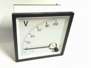 paneelmeter 0-100 volt DC