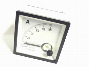 paneelmeter 0-100 ampere DC