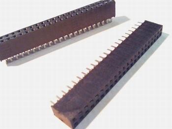 Female Header 2,54 mm recht, 2 x 22