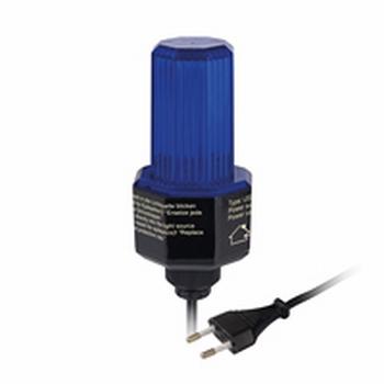 LED Flasher BLAUW met 230 volts stekker.