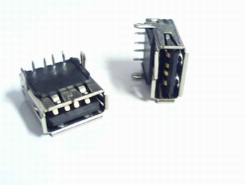 USB standard bus serie A for PCB 4 pins