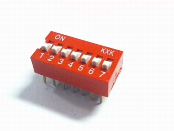 Dip switch 7 in 1 red