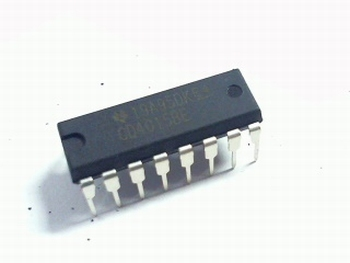 CD4015 Dual 4-stage Static Shift Register 16 pin DIP