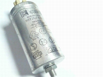 Startcapacitor 20 uf metal housing