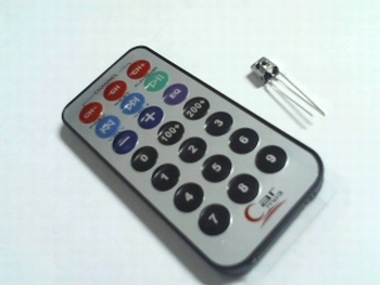 IR remote control with IR receiver