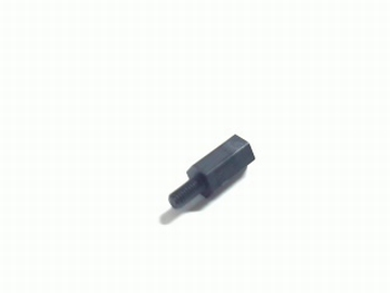 Plastic distance holder 10mm with screw-end