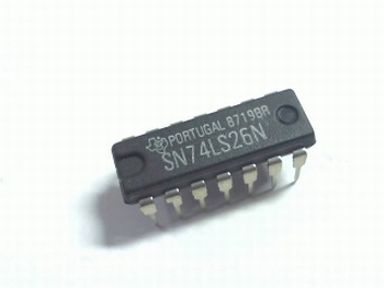 74LS26 Quad 2-input nand gate open collector