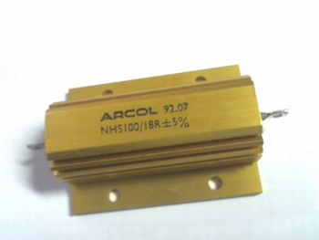 Resistor 18 Ohms 100 Watt 5% with heatsink