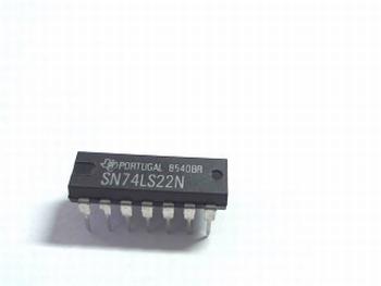 74LS22 DUAL 4-INPUT NAND GATE DIP14