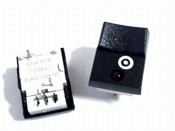 Druktoets met momentcontact en LED