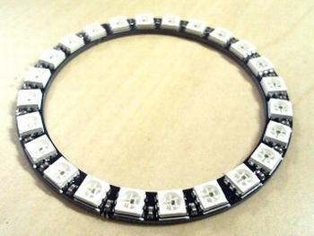 Round LED Module with 24 RGB WS2812B LEDS