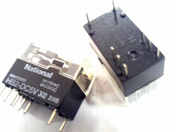 Relais National  HB2-DC 5 Volt DPDT - 2 polig