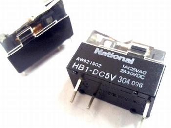 Relais National  HB1-DC 5 Volt SPDT - 1 polig wissel