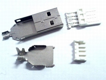 USB A plug to solder and assamble yourself